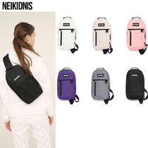 NEIKIDNIS Casual Style Unisex Street Style Plain Shoulder Bags