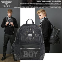 BOY LONDON Unisex Faux Fur Studded Bag in Bag Backpacks