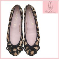 Pretty Ballerinas Leopard Patterns Leather Ballet Shoes