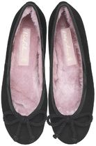 Pretty Ballerinas Suede Plain Ballet Shoes