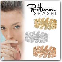 Ron Herman Casual Style Unisex Handmade Silver 18K Gold With Jewels