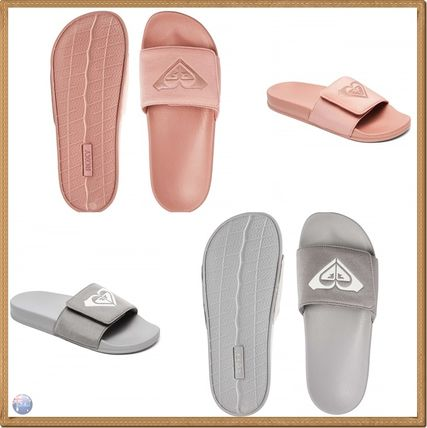 Open Toe Rubber Sole Casual Style Plain Shower Shoes