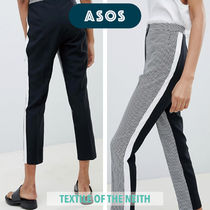 ASOS Gingham Casual Style Bi-color Cropped & Capris Pants
