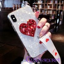 Heart Silicon With Jewels Smart Phone Cases