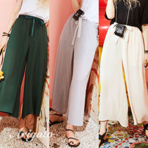 ELF SACK Plain Long Culottes & Gaucho Pants