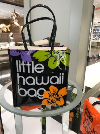 Flower Patterns Casual Style PVC Clothing Totes