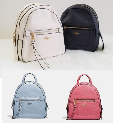 Casual Style Tassel 2WAY Plain Leather Backpacks