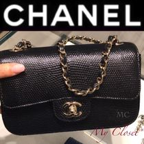 CHANEL ICON Crocodile Blended Fabrics 2WAY Chain Plain
