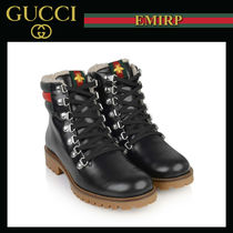 GUCCI Unisex Petit Street Style Kids Girl Boots