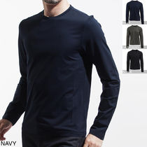 PRADA Crew Neck Long Sleeves Cotton Long Sleeve T-Shirts