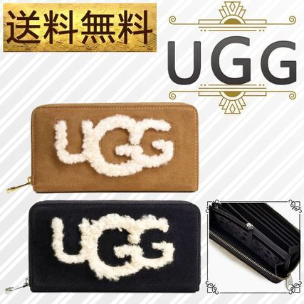 Monogram Suede Plain Long Wallets