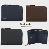 Paul Smith Stripes Plain Leather Folding Wallets