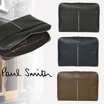 Paul Smith Stripes Leather Clutches
