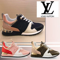 Louis Vuitton Rubber Sole Lace-up Casual Style Blended Fabrics