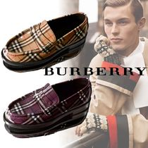 Burberry Other Check Patterns Loafers Leather Loafers & Slip-ons