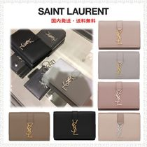 Saint Laurent Calfskin Plain Keychains & Bag Charms
