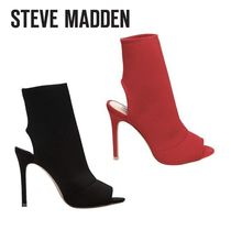 Steve Madden Open Toe Plain Pin Heels Elegant Style Ankle & Booties Boots