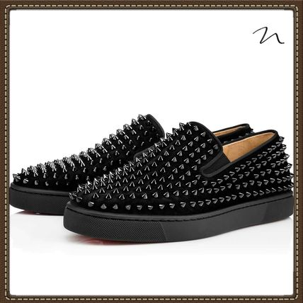 6742f534611 ... Christian Louboutin Loafers   Slip-ons Loafers Studded Street Style  Plain Loafers ...