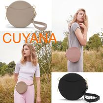 CUYANA Casual Style 2WAY Plain Leather Shoulder Bags