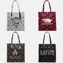 Coach Casual Style Canvas Collaboration A4 Totes