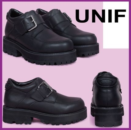 4b39785b0336 ... UNIF Clothing Ankle   Booties Platform Round Toe Casual Style Street  Style Plain ...