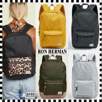 Ron Herman Leopard Patterns Casual Style Unisex A4 Plain Backpacks