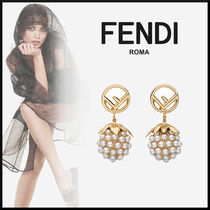 FENDI Elegant Style Earrings & Piercings