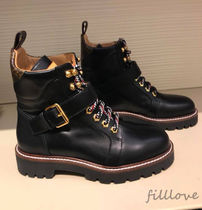 Louis Vuitton Mountain Boots Rubber Sole Casual Style Street Style Plain