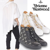 Vivienne Westwood Star Casual Style Blended Fabrics Street Style Leather