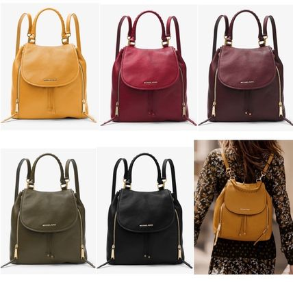 620bbeacf5d5 ... france michael kors backpacks street style plain leather elegant style  backpacks 0092e fc11a