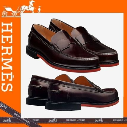 4eaceba9cf1 HERMES 2018-19AW Loafers Plain Leather U Tips Loafers   Slip-ons by ...