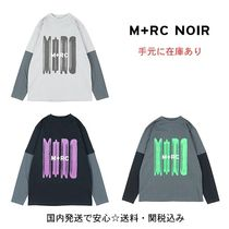 MRC NOIR Unisex Street Style Long Sleeves Long Sleeve T-Shirts
