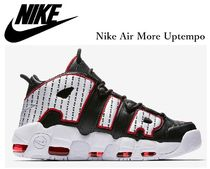 Nike AIR MORE UPTEMPO Street Style Plain Leather Sneakers
