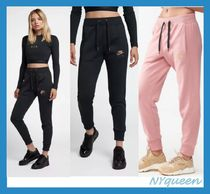 Nike Casual Style Street Style Plain Cotton Long Bottoms