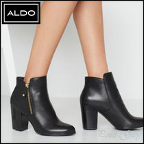 ALDO [ALDO] Leather Side-zipper Ankle Boots - Naedia