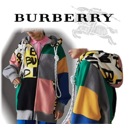 Burberry Hoodies Unisex Blended Fabrics Street Style Long Sleeves Cotton