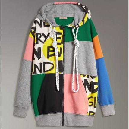 Burberry Hoodies Unisex Blended Fabrics Street Style Long Sleeves Cotton 2