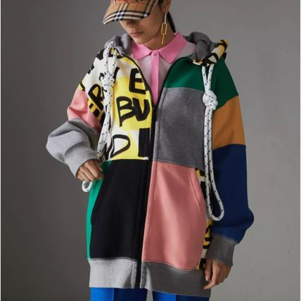 Burberry Hoodies Unisex Blended Fabrics Street Style Long Sleeves Cotton 4