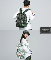 ROMANTIC CROWN Flower Patterns Casual Style Street Style Backpacks