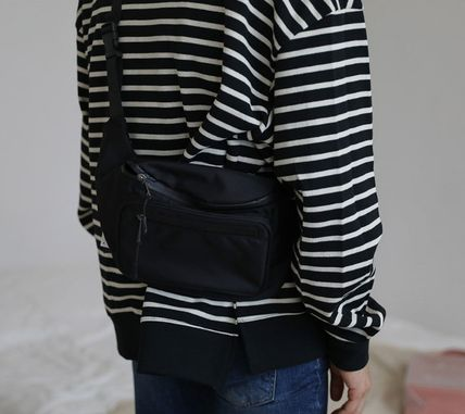 Casual Style Unisex Street Style Hip Packs