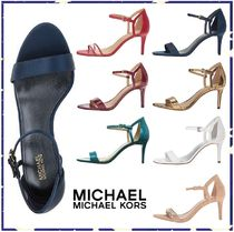 Michael Kors Open Toe Plain Pin Heels Elegant Style Sandals
