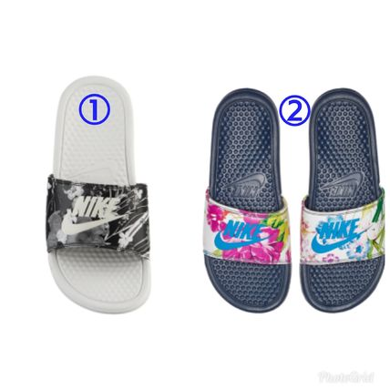 6af7b9729f59 Nike BENASSI 2018-19AW Flower Patterns Casual Style Sandals by ...
