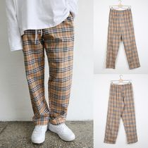Printed Pants Glen Patterns Cotton Long Pants