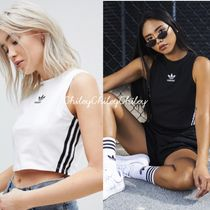 adidas Short Street Style Cotton High-Neck Tanks & Camisoles