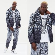 adidas Camouflage Street Style Long Coach Jackets