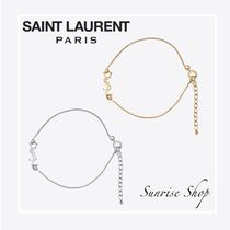 Saint Laurent Costume Jewelry Brass Elegant Style Bracelets
