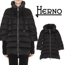 HERNO Blended Fabrics Plain Medium Oversized Down Jackets