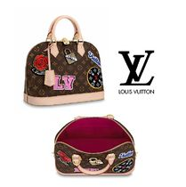 Louis Vuitton ALMA Monogram Canvas Elegant Style Handbags