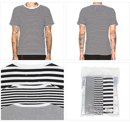 Crew Neck Pullovers Stripes Unisex Street Style Cotton