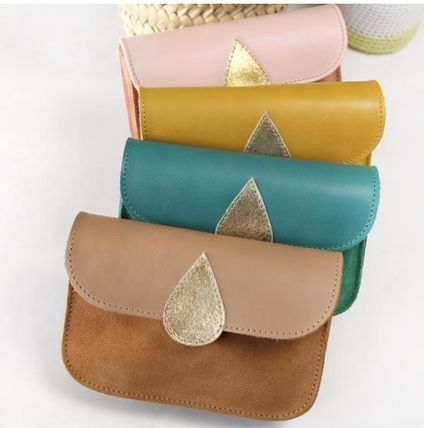 Bi-color Leather Long Wallets